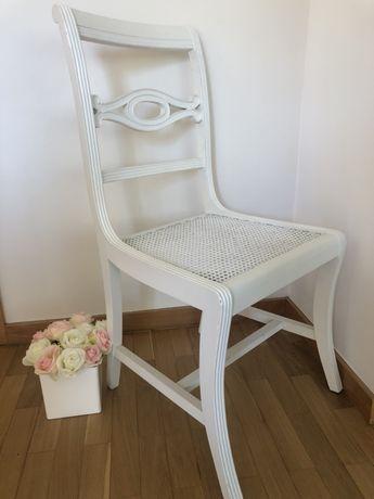 Cadeira palhinha restaurada branco