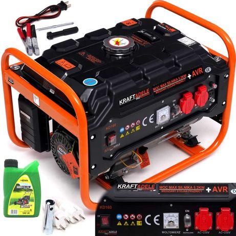 Agregat prądotwórczy generator prądu Kraft 5200W 230V Miedź AVR