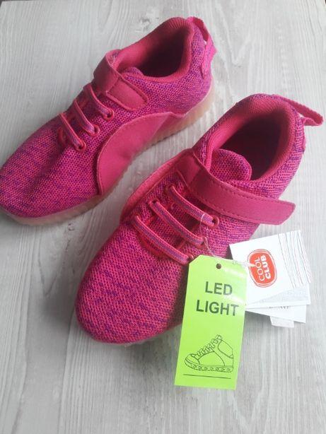 Кроссовки LED светящиеся кросовки р.30-31, 20 см Cool Club Smik Польша
