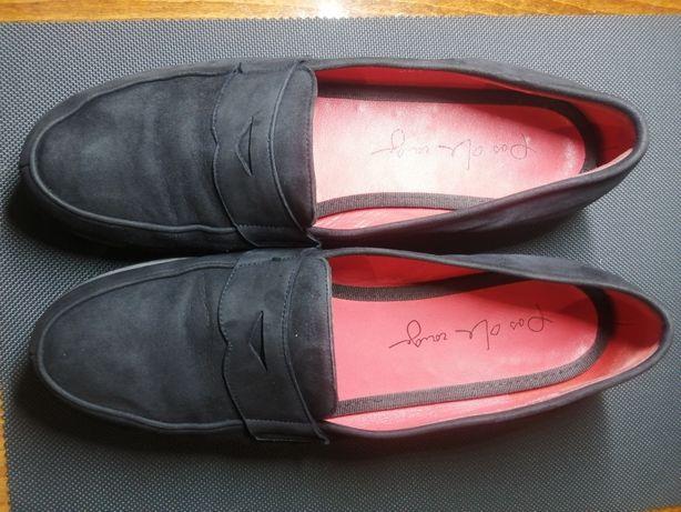 Итальянские замшевые туфли [42-41]