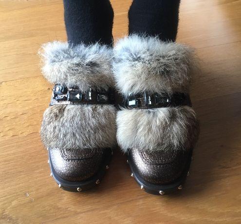 Sapatos de senhora/mocassins em pele marca Kanna (NOVOS!)