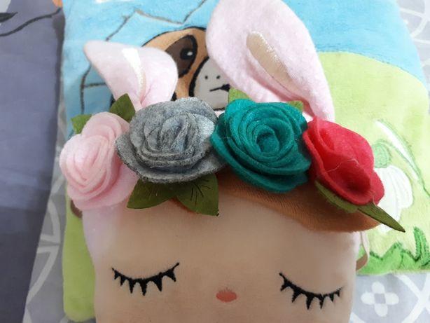 Opaska dla dziewczynki kwiatki filc róże
