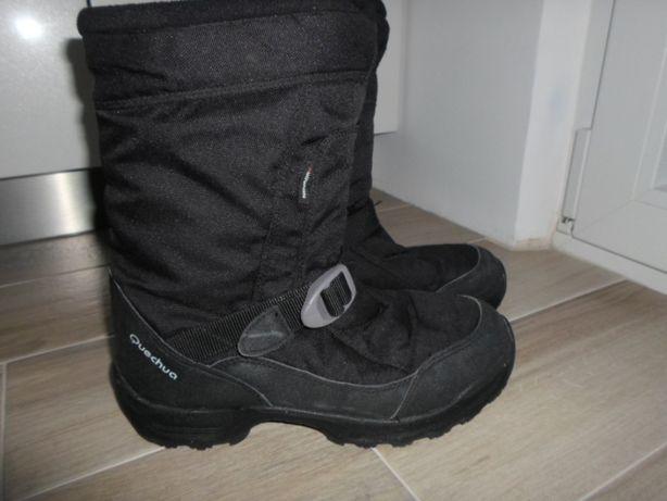 buty zimowe 38 czarne z Decatlonu
