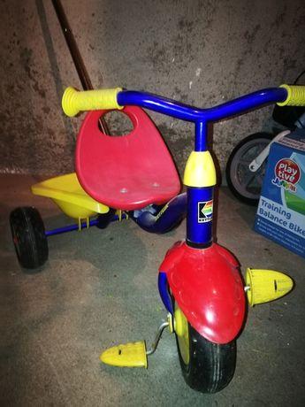 Rowerek dziecięcy z rączką do prowadzenia