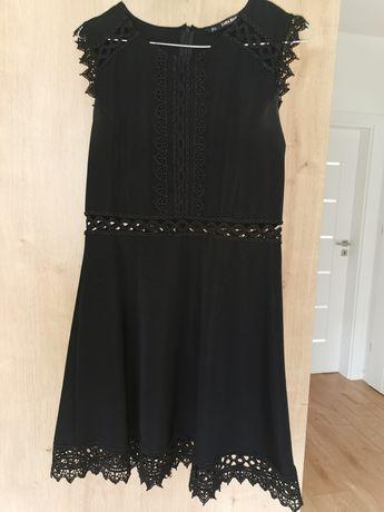 Zara r. 38 sukienka mała czarna koronka wesele letnia jak nowa