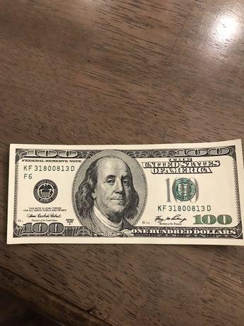 Продам купюру в 100$ с зеркальным номером