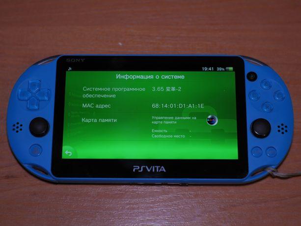 PS vita slim под не слетаемую прошивку + переходник под micro sd