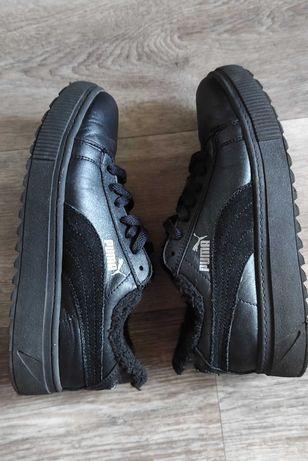 Кожаные утеплённые кроссовки Puma