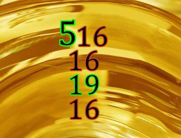 Złoty Numer Orange - 516. 16. 19. 16