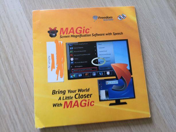 Magic screen, program do powiększania wraz z mową dla słabowidzących