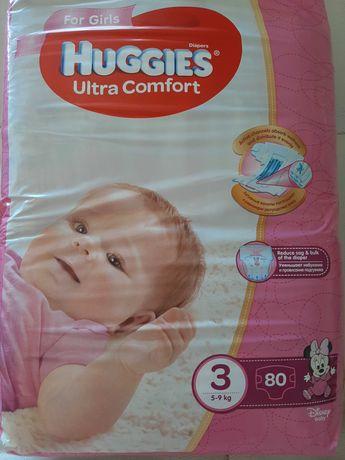 Продам подгузники Huggies Ultra comfort 3 (5-9кг) для девочек