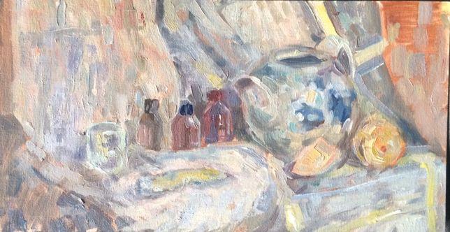 """Картина """"Натюрморт с чайником и лимоном"""""""