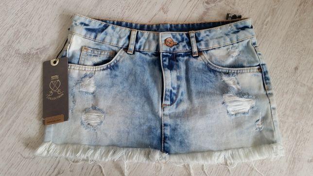 Spódnice jeansowe mini