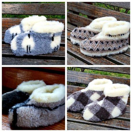 РАСПРОДАЖА Чуни с овчины чуні теплая обувь тапочки тапки угги