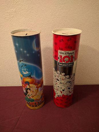 Mealheiros altos de lata: Aladdin e 101 Dalmatas (Walt Disney) baratos