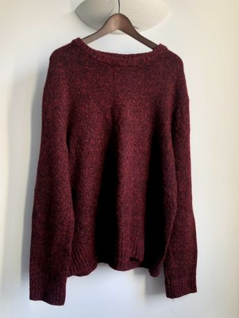 Sweter H&M, bordowy, XL