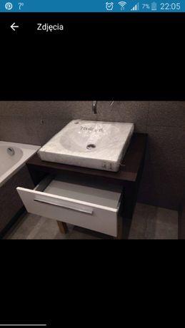 Szafka łazienkowa z szufladą i umywalką