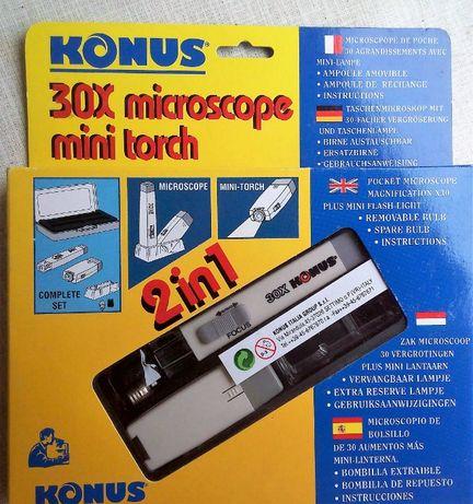 30-кратний міні мікроскоп Konus.