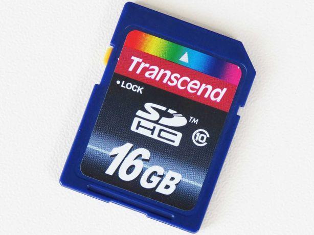 Karta pamięci SDHC Transcend 16 GB Klasa 10 TS16GSDHC10E