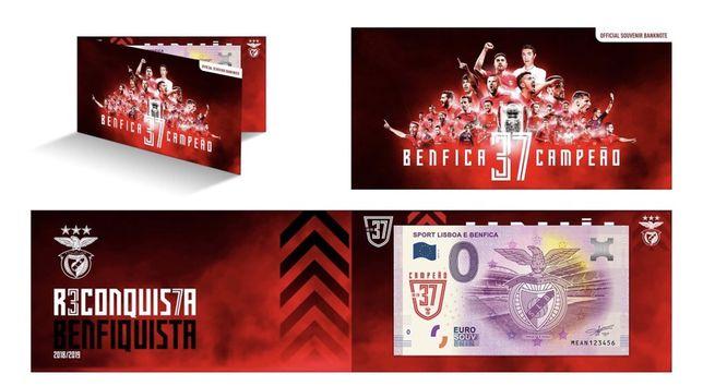 Nota 0€ Oficial Benfica 37 Campeão
