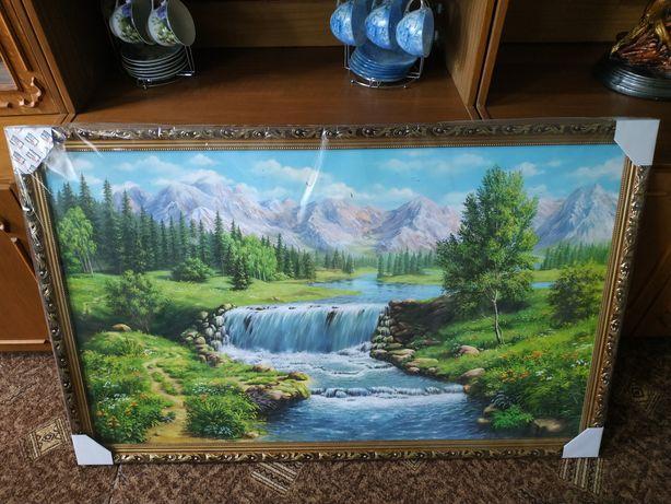 Картина, пейзаж, печать на холсте