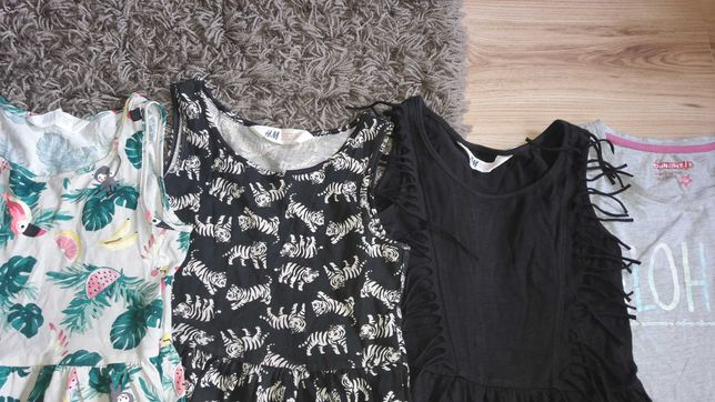4 sukienki h&m 122/128 h&m po 6zł