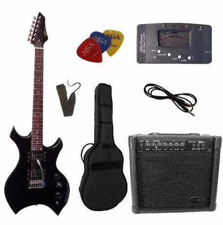 Conjunto 'power' guitarra elétrica H-Metal MSA VISION - NOVO