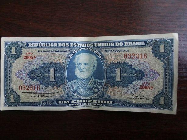 Banknot 1 cruzeiro Brazylia