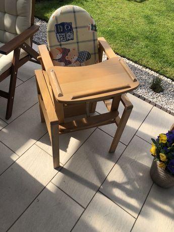 Drewniany fotelik