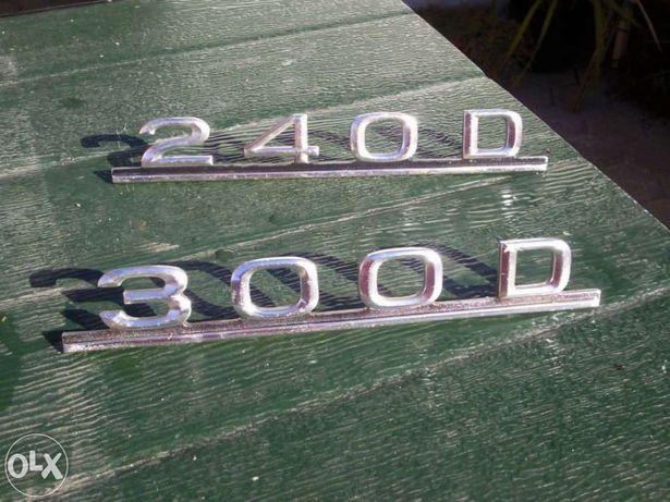 Simbolos letras mercedes 240D