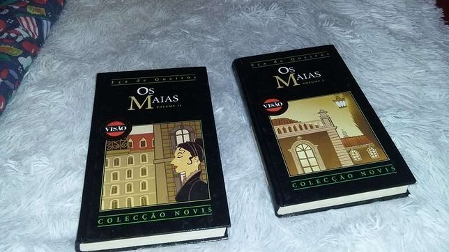 Livros Os Maias Parte 1 e Parte 2