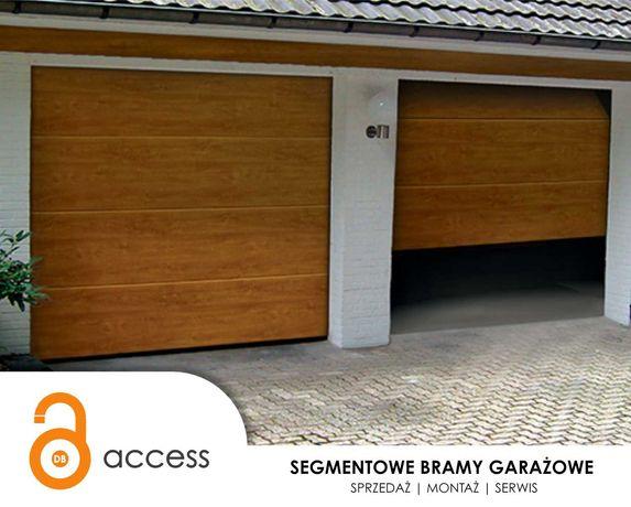 Automatyczna segmentowa brama garażowa+ NAPĘD W CENIE +możliwy montaż