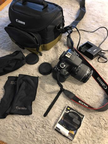 Canon EOS 1200D + statyw + Filtr KENKO SMART C-PL