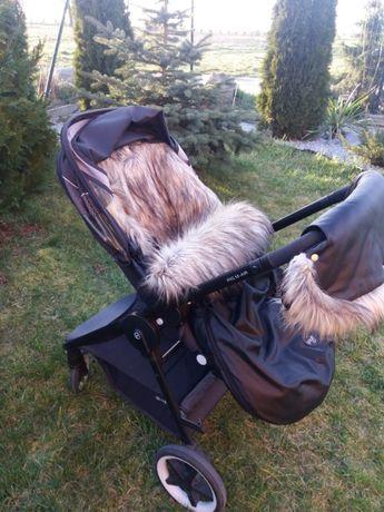 Wózek Cybex spacerówka oraz Śpiworek do wózka mufka skórzany od Miajg