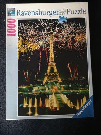 Ravensburger 1000 elementów - 15 881 2 Eiffelturm mit Feuerwerk