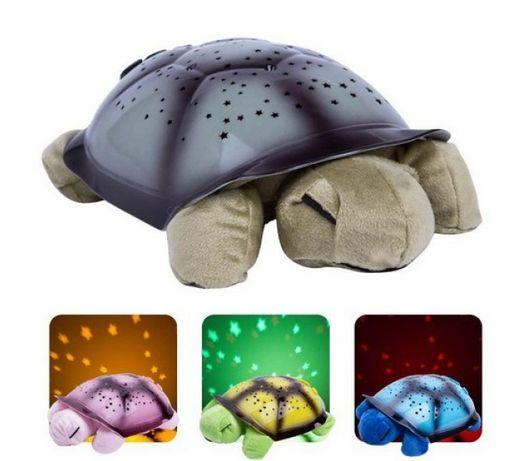 ОПТ / Проектор звездного неба Night Turtle Черепаха музыкальная свет