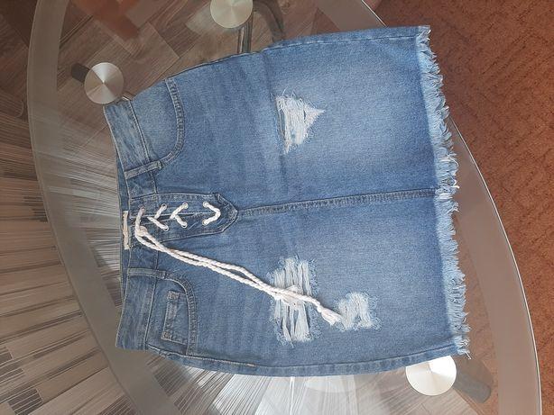Юбка джинсовая.Denim reserved. 36 размер