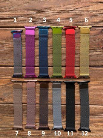 Миланская петля ремешок для на Apple Watch вотч 38/40/42/44 мм браслет