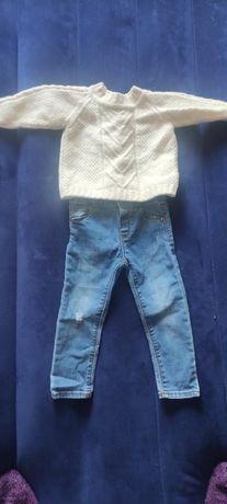 Джинсы zara свитер шерстяной для фотосессии