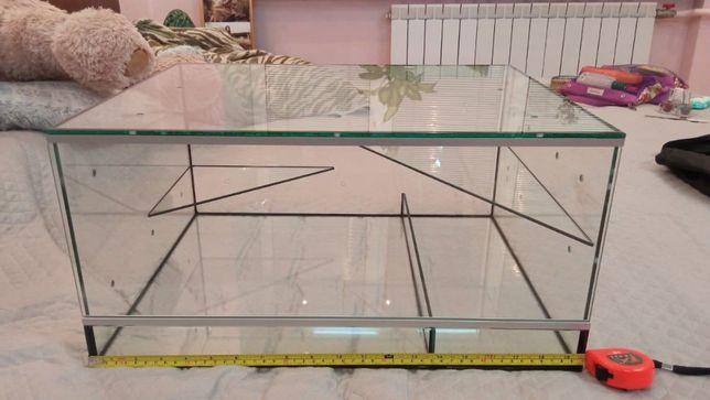 Террариум стеклянный 50х40х25 для мелких грызунов (песчанок, хомяков))