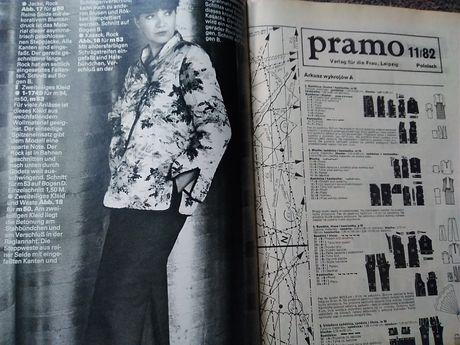 Wykroje ubrań lata 80-te PRL Vintage 19 szt Niemieckie Pramo
