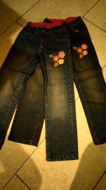 Spodnie jeans 2 sztuki r.122-128