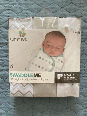 Набір конверт на липучках пеленки на липучках для пеленання немовлят