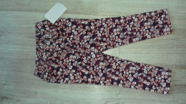 Nowe spodnie w kwiatki