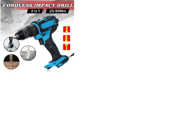 Wiertarko-wkrętarka udarowa 13mm – 3 w 1 do baterii Makita 18V