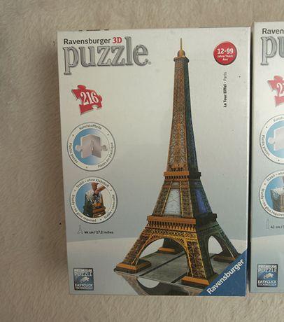 Puzzle Ravensburger 3D WIEŻA EIFFEL-Folia