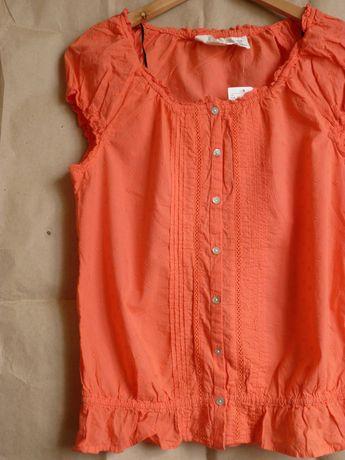 Яркая хлопковая блуза H&M, S/XS, новая