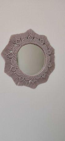 Espelho FLOWER em macramé