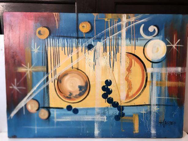 Quadro (pintura a oleo sobre tela) com 1,00x 0,70
