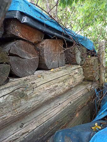 Drewno z rozbiorki domu